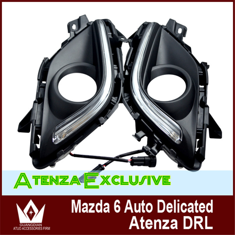 Night lord guide design LED front lamps fog lights products For Mazda 6 ATENZA 2013 2014 2015 2016 daytime running