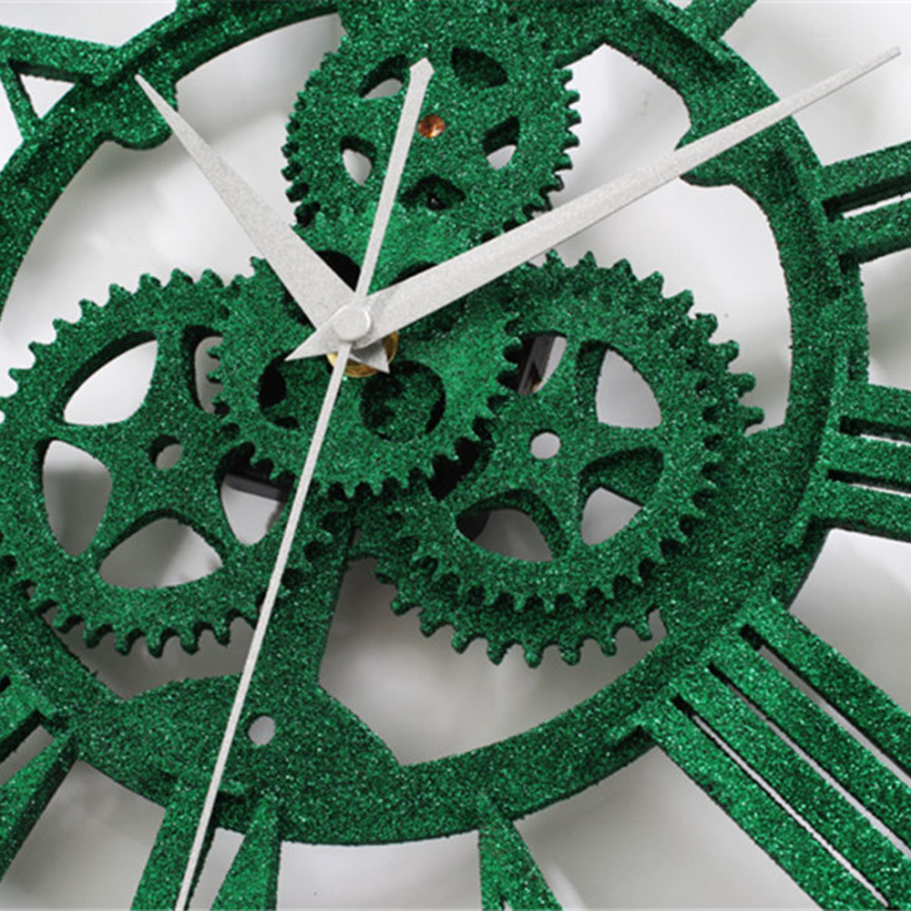 Amazing Living Room Home Wall Clocksfrom Home Green Gear Industrial Wall Clock Vintage Retro Large Art Design Green Gear Industrial Wall Clock Vintage Retro Large Art Design Romanstereoscoptic Wall Cl furniture Large Wall Clocks With Gears