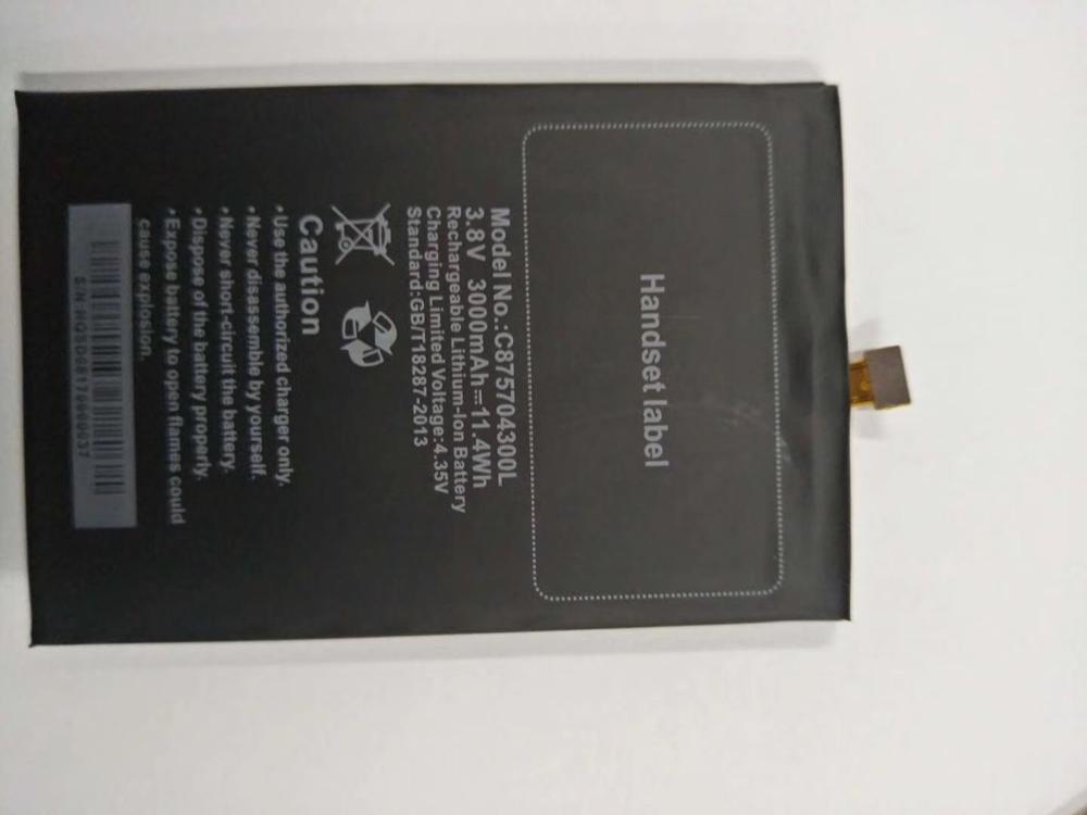 3000mAh Battery C875704300L for BLU Studio C D830 D830U cell phone