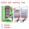 315/433.92MHz DC 12V 10A 4CH 4Keys RF Wireless Remote Control Switches rf micro switch 315mhz electrical switch