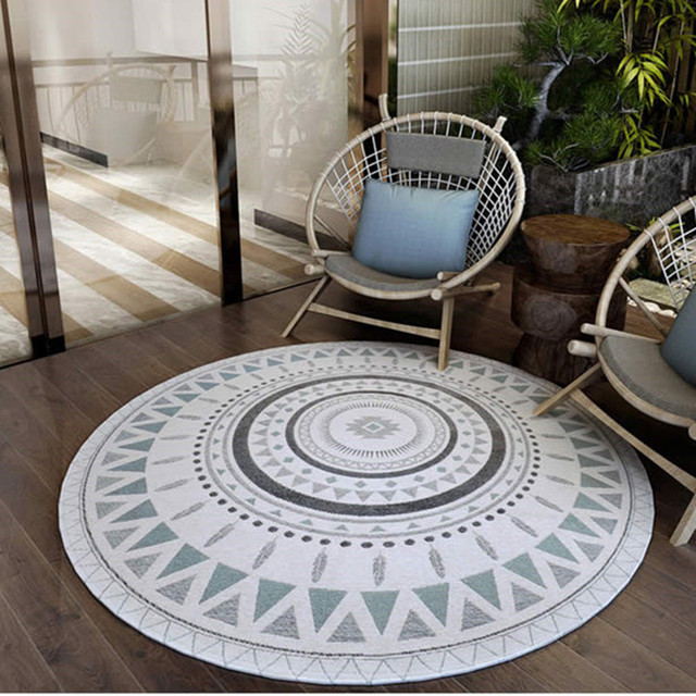 round carpets for home living room nordic style bedroom floor carpet study room area rug computer - Bedroom Floor Carpet