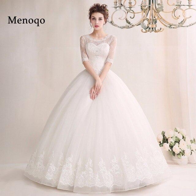 3 02W New Design 2018 Long Wedding Dress Actual Images Lace Half ...