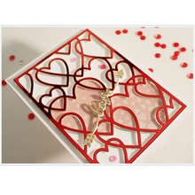 Eastshape Multi Layered Heart Shape Metal Cutting Dies Scrapbooking Hollow Background For Card Making Embossing Paper Stencil