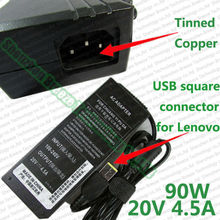 Model NEW Manufacturing unit direct sale value High quality four.5A 90W 20V Laptop computer AC Charger adapter for Lenovo with USB Sq. Tip connector