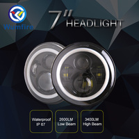 2pcs 7 Inch Led Driving Light 40W 30W H4 H13 LED Car Headlight Kit Auto For