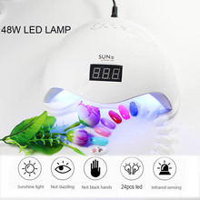 48W UV LED Nail Dryer For All Gels Polish With Infrared Sensing