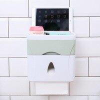 YFGXBHMX Multifunctional Plastic Waterproof Tissue Box Toilet Toilet Nail free Punching Tray Paper Roll Paper Towel Rack