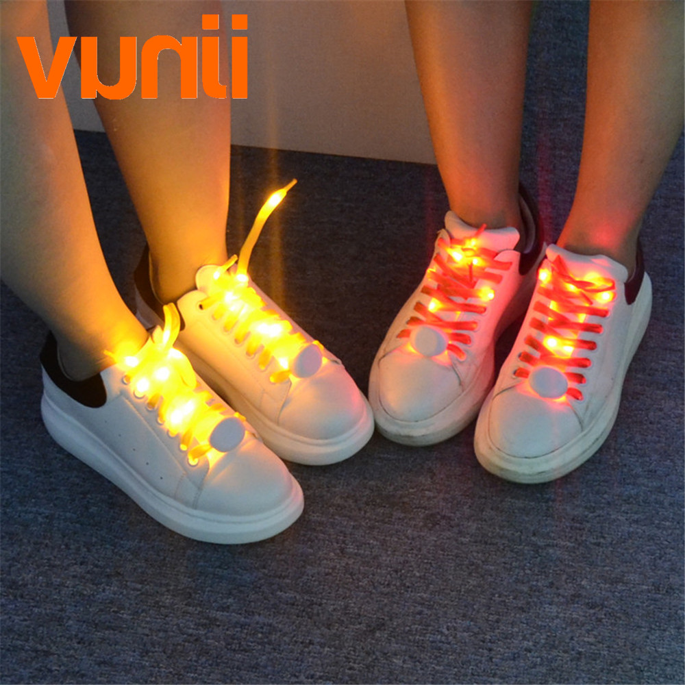 2018 NEW 2M 20 Led Shoelaces Light  For Christmas Festival Home Party Decoration Color Fashion