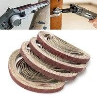 50pcs Aluminum Oxide Sanding Belts Set 40 60 80 120 Grit Sanding Belts Set For Sander