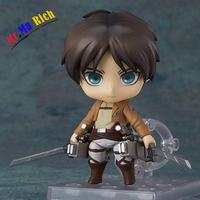 10cm #375 Nendoroid Attack On Titan Eren Jaeger 417 390 Pvc Action Anime Cute Figure Collectible Model Toy Doll