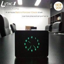 Vfd relógio ponteiro relógio de alumínio caso usb alimentado estilo analógico com linha dados usb