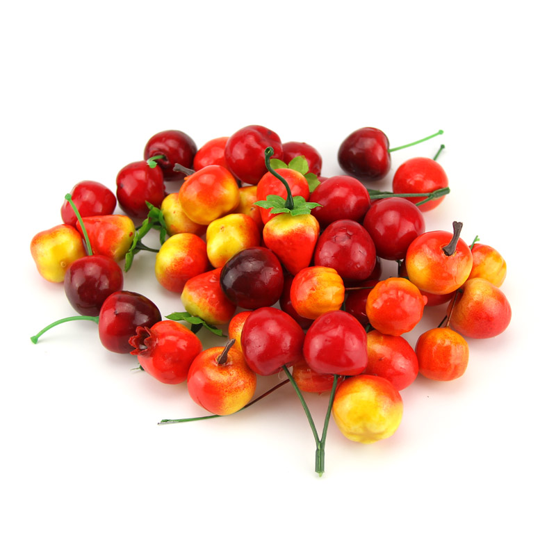 Hot cheap 10pcs artificial fruits and vegetables bacca for for Artificial fruit for decoration
