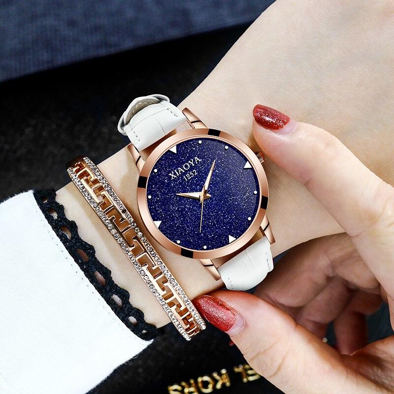 db8b486b56f04 Nova Marca de Moda Areias Estrelado relógios das Mulheres de Negócios  Simples Temperamento Diamante Relógios para as mulheres Quartz relogio  feminino