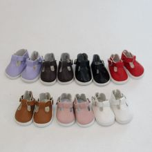 Fashion New 5*2.8cm Doll Shoes For 14Dolls and Mini Toy 1/6 BJD 14 Russian Cloth Handmade Accessories