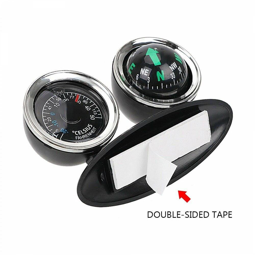 Vcehicle 2 в 1 направляющий шар автомобильный компас термометр Автомобильный Стайлинг автомобильный орнамент направление приборной панели шар ...