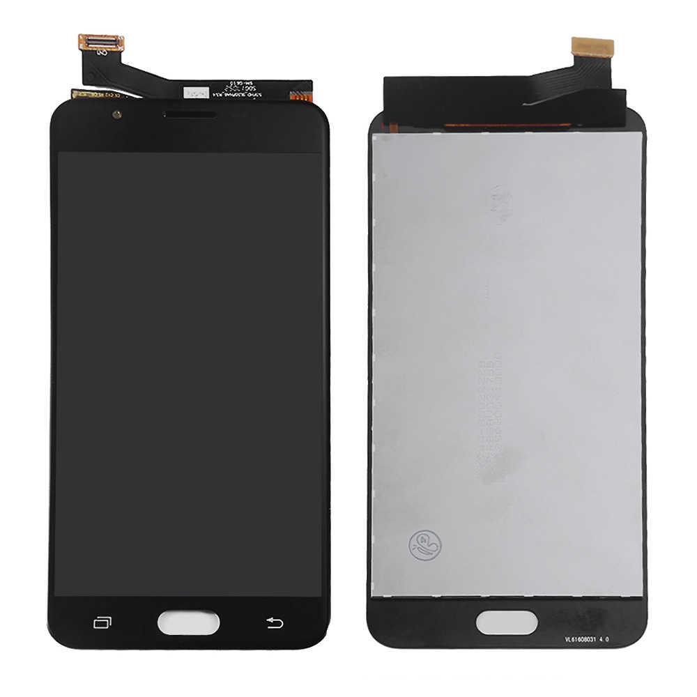 شاشة لسامسونج غالاكسي J7 رئيس شاشة الكريستال السائل G610F G6100 G610M LCD محول الأرقام شاشة تعمل باللمس لسامسونج J7 رئيس عرض