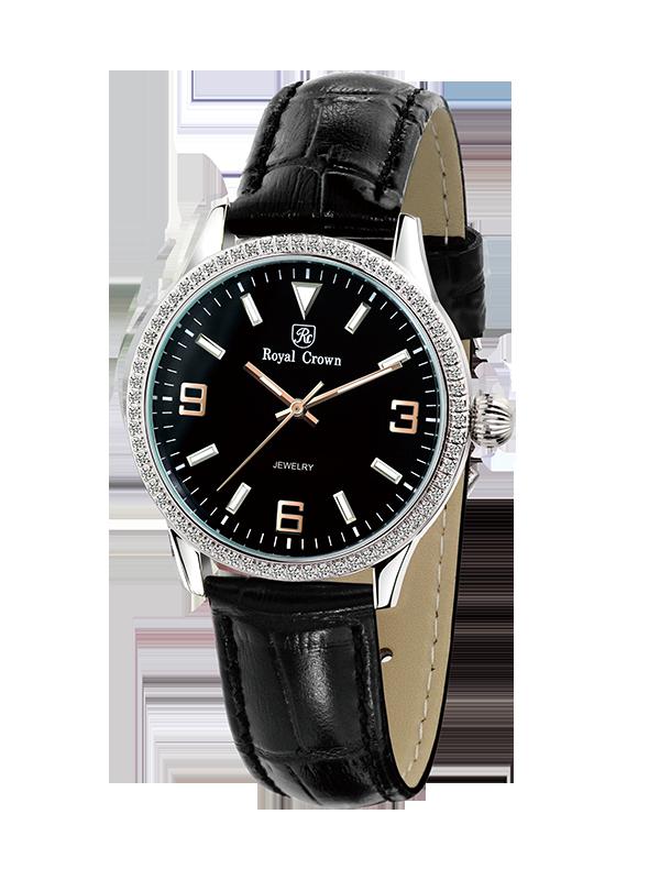 Royal Crown Bauhaus watch 6424L Italy brand Diamond Japan MIYOTA new Thin and simple design Luxury brand Belt Ladies Watch bauhaus