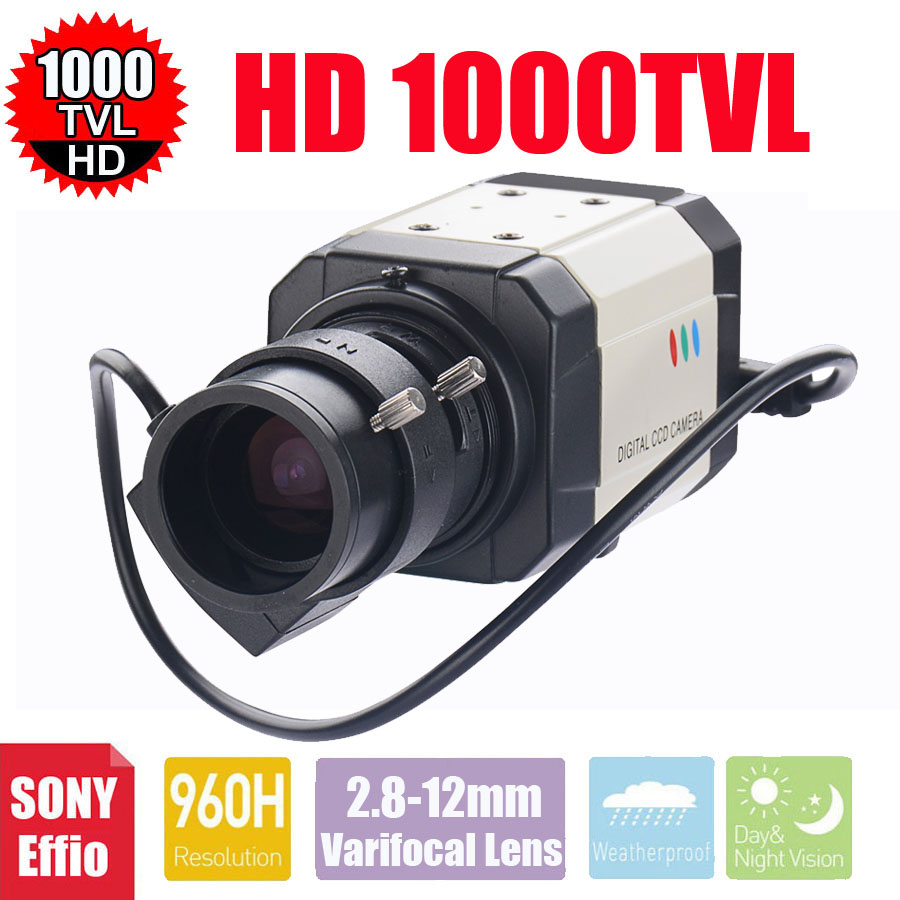 Vanxse CCTV 1/3 Sony Effio-E CCD 960H/1000TVL 2.8-12mm Auto Iris Mini Box Security Camera Surveillance CameraVanxse CCTV 1/3 Sony Effio-E CCD 960H/1000TVL 2.8-12mm Auto Iris Mini Box Security Camera Surveillance Camera
