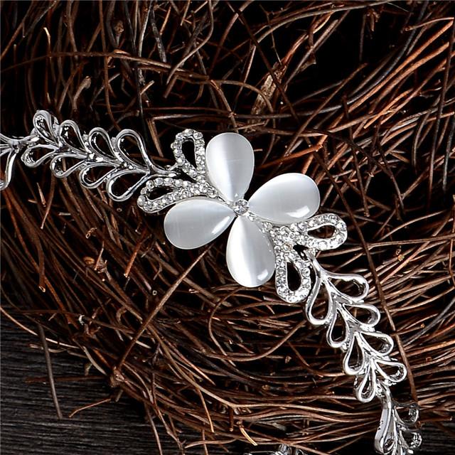 H:HYDE Silver Color Butterfly Austrian Crystal Bracelet