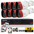 SUNCHAN  HD 8CH CCTV system 1.3MP 720P Real time Surveillance AHD DVR KIT 8PCS outdoor 1500TVL Security Camera System 1TB HD