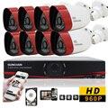 Sunchan HD 8CH CCTV sistema 1.3MP 720 P en tiempo Real de vigilancia AHD DVR KIT de 8 unids exterior 1500TVL sistema de cámaras de seguridad 1 TB HD camaras de seguridad cctv kit camaras vigilancia