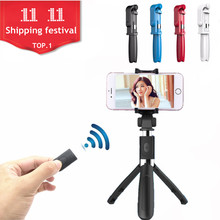 Fghgf Bluetooth inalámbrico selfie stick portable universal teléfono móvil extensible monopod para Android para el iPhone 6 7 8 s xiaomi 6