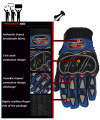 Pro biker motorcycle gloves full finger knight riding moto motorcross sports GLOVE cycling Washable glove guantes