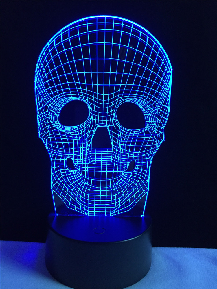Luzes da Noite light desk xmas decor presente Formato : Skull