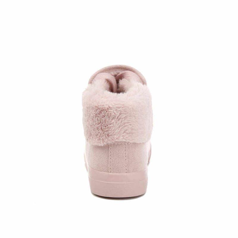 Peluş Kadın Isınma Botları Süet Açık Kış Tüy rahat ayakkabılar Dayanıklı Kadın Kar Botları Ayakkabı zapotos mujer