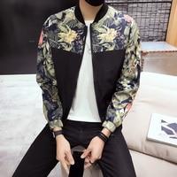 Fashion Style Bomber Jacket Men Floral Print Mens Jackets and Coats Spring Summer Thin Male Jacket Windbreaker Baseball Coat Man