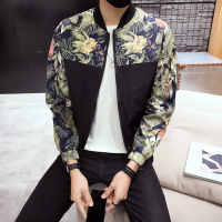 Fashion Style Bomber Jacket Men Floral Print Mens Jackets and Coats Spring Summer Thin Male Jacket Windbreaker Baseball Coat Man
