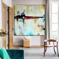 Hand Painted Authentic Summary Trendy Artwork Modern Portray Summary gold blue Wall Artwork Decor Textured Giant Paintings HTB1zZ0