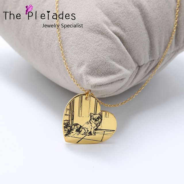 925 sterling silver photo engraved necklace personalized your deal