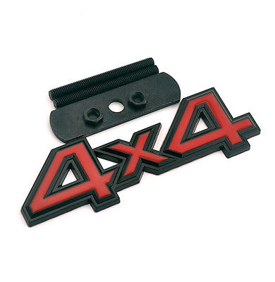 1 PCS New Arrival Red & Black 4X4 Badge for SVU 4X4 Car Front Grill Grille Emblem Car Styling