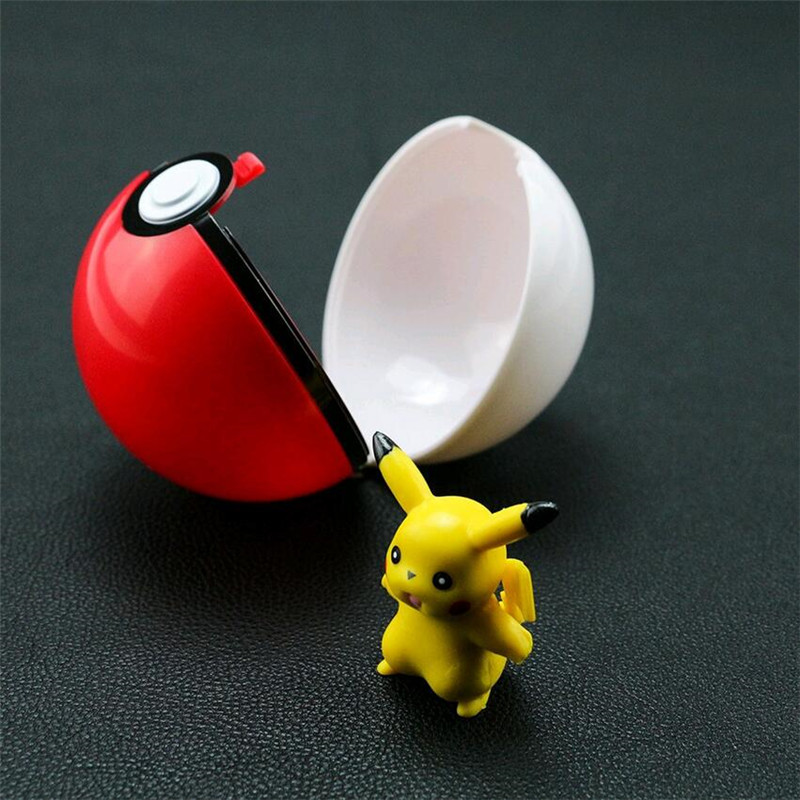 2016 <font><b>New</b></font> Pokeballs Ball+Pikachu <font><b>Figures</b></font> ABS <font><b>Anime</b></font> <font><b>Action</b></font> <font><b>Figures</b></font> <font><b>Poke</b></font> Ball PokeBall Super Masters Ball Kids Toys