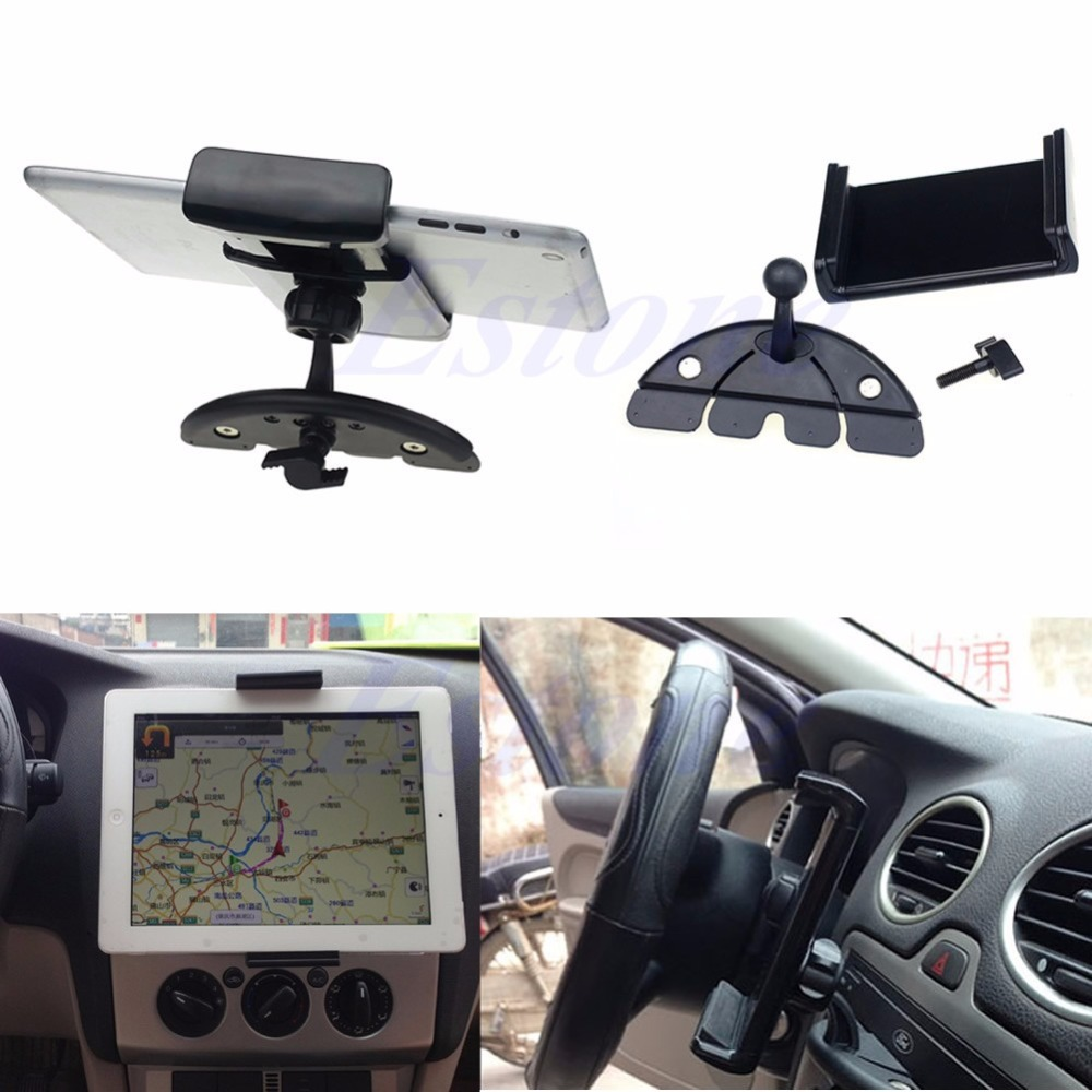 Car Auto CD Mount Tablet PC Cradle Holder Stand For Pad 2 3 4 5 Air for Galaxy Tab black vertical base stand holder mount cradle for microsoft xbox one console new