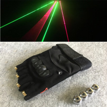 RGB Laser Gloves With 4pcs 2pcs Green +2pcs Red Stage Luminous Performance Props for DJ Club Party Show