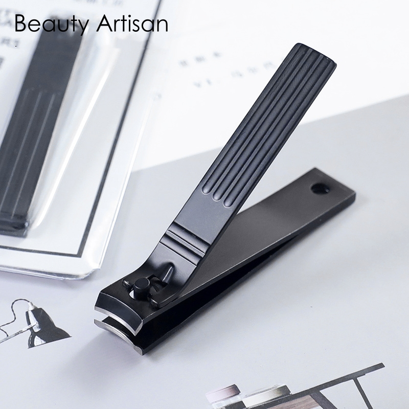 1PC Large Stainless Steel Nail Clipper Cutter Scissors Professional Manicure Trimmer Black High Quality Finger Toe Nail Clipper