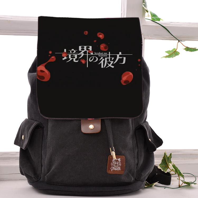 цена на Anime Kyokai no kanata Cosplay Backpack Fashion casual large capacity Bags For Men Women School Bags