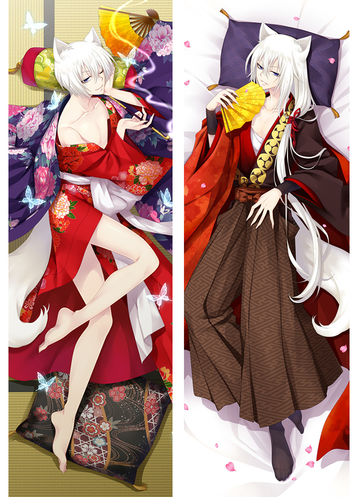 Kamisama Hajimemashita Kiss Anime Characters Cool Boy Tomoe & Kurama Dakimakura Hugging Body Pillow Cover Case Cosplay Gifts