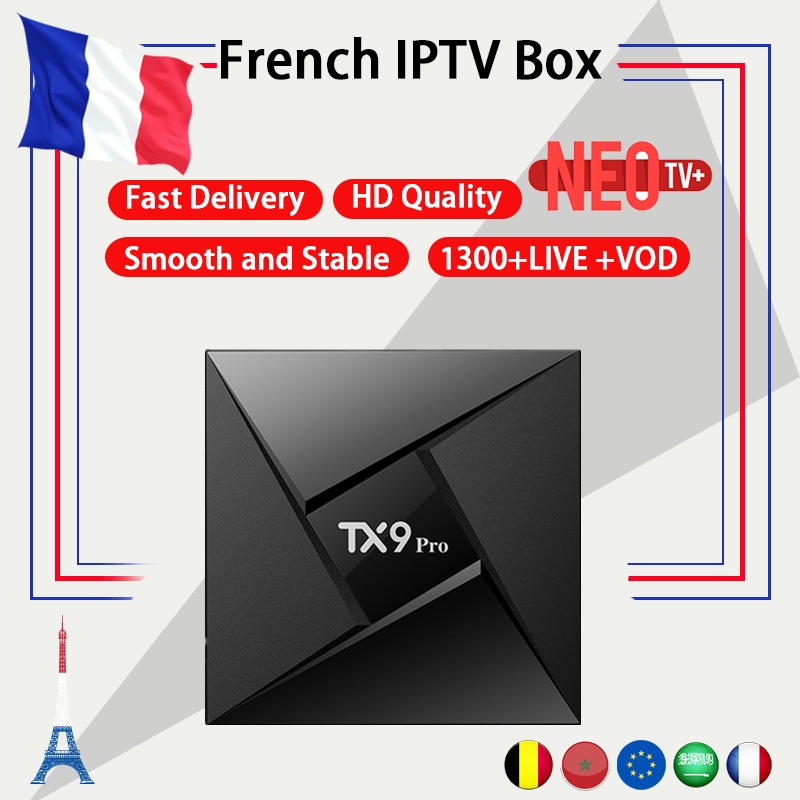 Fench IPTV Box TX9 Pro Android TV Box 7 1 3GB 32G NEO IPTV code 1300