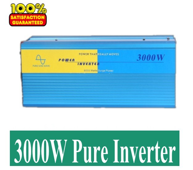 3000W Watts Peak Real 6000W 6000 Watts pure sine wave Power Inverter 24V DC to 230V AC for solar panel + Free shipping fast shipping dc to ac 12v to 220v pure sine wave inverter 5000w peak 10000w inverter pure sine wave power converters