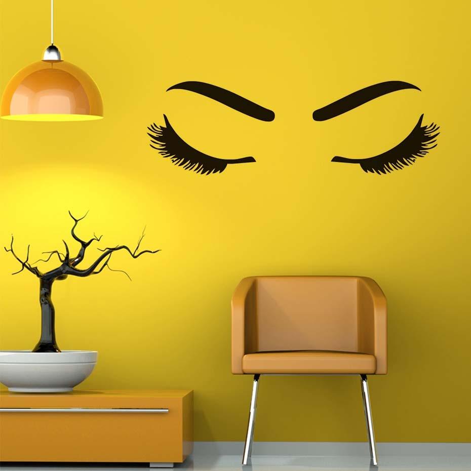 Beautiful Girl\'S Eyelash And Eyebrow Wall Sticker For Living Room ...