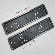 Marco para matrícula soporte de placa MARCO DE número cubierta de placa matrícula tornillo colores metálicos fibra de carbono