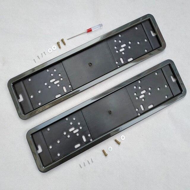 Porte plaque dimmatriculation, cadre de numéro, plaque dimmatriculation, couvercle, couleur métallique en fibre de carbone