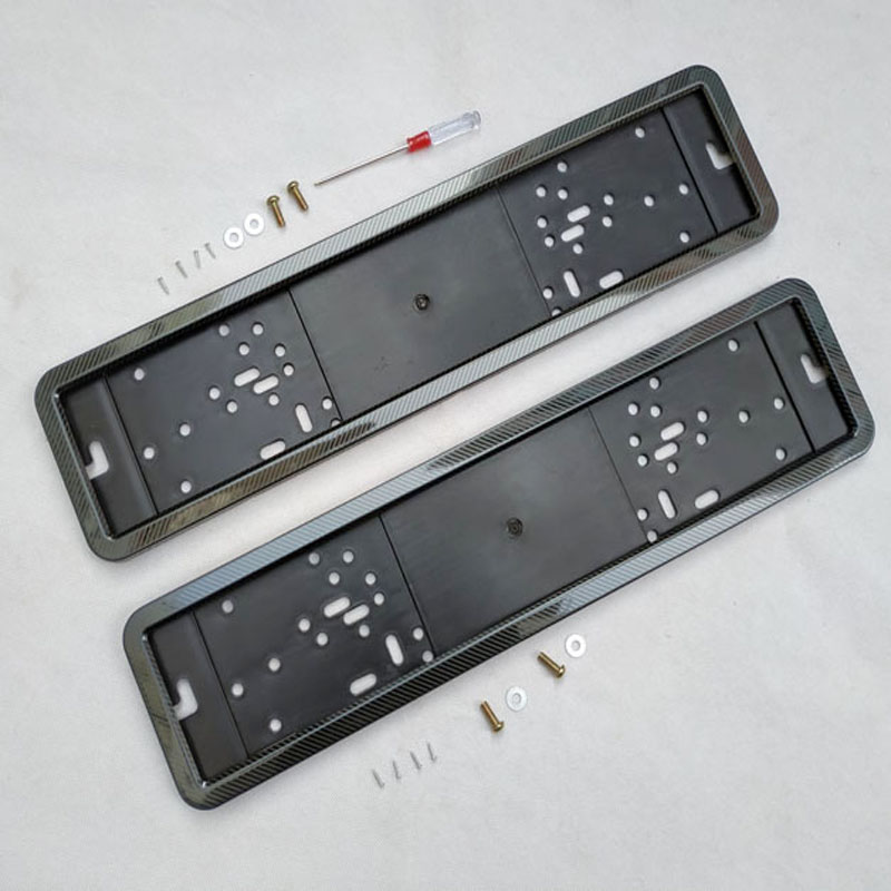 license plate frame plate holder number frame plate cover license plate screw stainless steel carbon fiber and Plastic