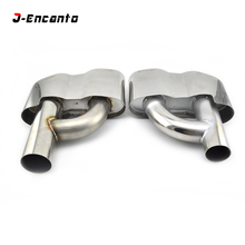 цена на Stainless Steel Modified Car Exhaust Muffler Pipe Tips For Mercedes Benz S Class W221 S350 S320 S500 S600 modified S65 2005