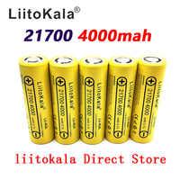 LiitoKala Lii-40A 21700 4000 mah li-ni batterie 3.7 V 40A pour Cigarette électronique Mod/Kit 3.7 V 30A puissance 5C débit décharge