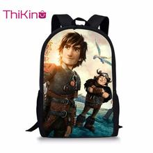 Thikin How to Train Your Dragon Backpack  for Teenager School Bag Preschool Bookbag for pupil Travel Shoulder Bag Women Mochila how to train your dragon school bag noctilucous backpack student school bag notebook backpack daily backpack