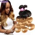 Ombre Tecer indiano virgem do cabelo da onda do corpo 300g feixes de cabelo virgem grau 8a cabelo humano não processado cabelo indiano fornecedores alibaba